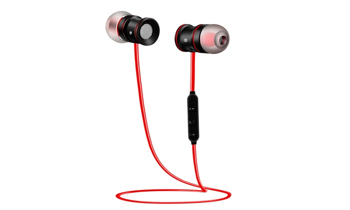 Wireless Sports Bluetooth V4 1 Headphone Earbuds Headset Earphone In Ear Groupon