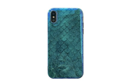 Mermaid Reflective Blue Ray iPhone Case for iPhone X 8 7 6s 6 Plus 5b03636f-1bc0-471f-bdbe-67432af5bd34