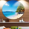 Tropical Beach Thailand' Disc Photography Circle Metal Wall Art