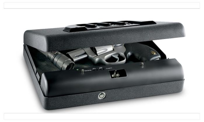 GunVault MicroVault Portable Handgun Pistol Safe Vault with Keypad Ent
