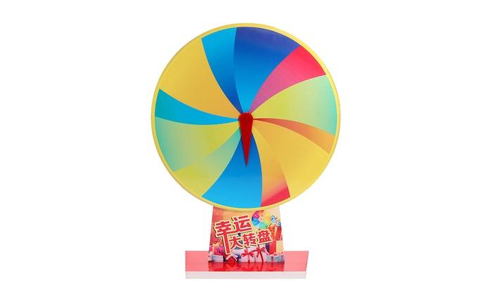 12 Slot Spin Fortune Prize Wheel Blank PVC Color Prize Wheels Tabletop