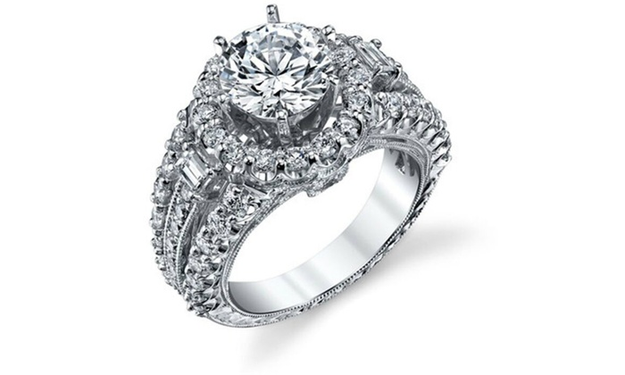 Up To 84 Off On 18k White Gold Plated Women S Groupon Goods
