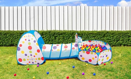 iMounTEK 3-In-1 Kids' Play Tent, Crawl Tunnel, and Ball Pit with Storage Bag