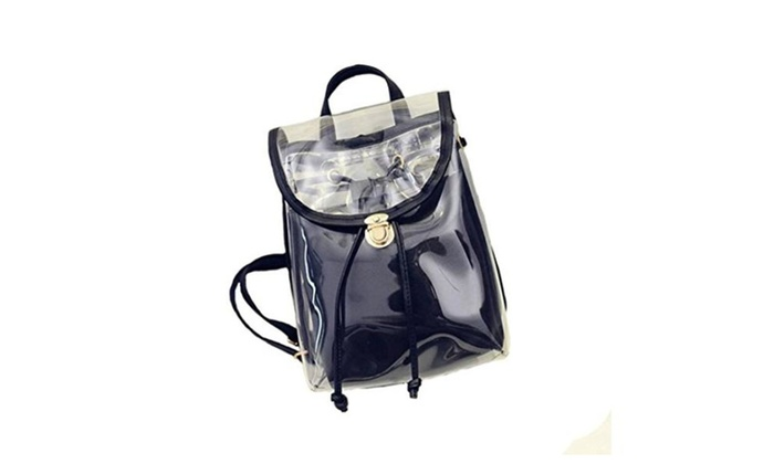Womens Clear Transparent Shoulder Bag Jelly Candy Color Handbag