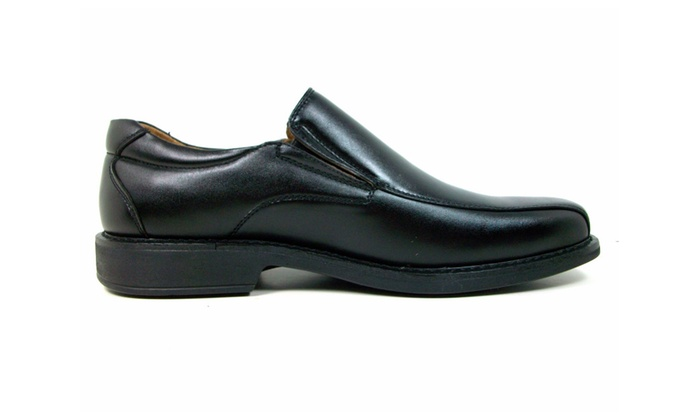 Men's Black Classic Slip On Dress Loafers Shoes - 16061