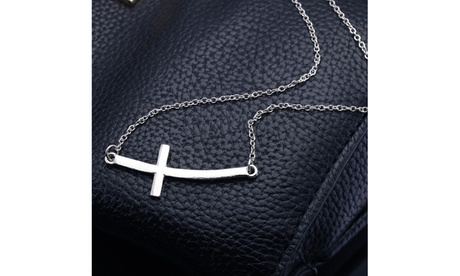 Sideways Cross Necklace 0d05a036-c15f-4668-bfbe-1f93f0e68140