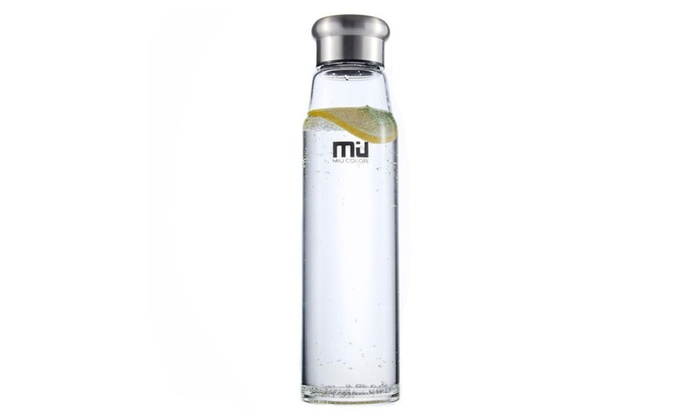 MIU COLOR 24.5 oz Glass Water Bottle with Nylon Sleeve for Outdoor