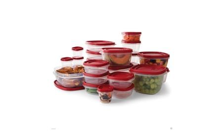 Rubbermaid 50 pc piece easy find food plastic storage containers set d6ec57d9-bf69-4b1e-99e5-3d489b9f4070