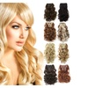 Onedor Curly Full Head Clip In Synthetic Hair Extensions 140G, 7 Piece