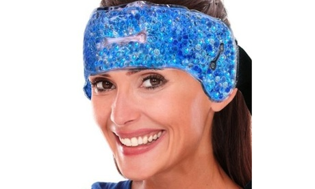 New Adjustable Hot Cold Gel Ice Head Wrap Pain Relief Head Gel Bead Wrap