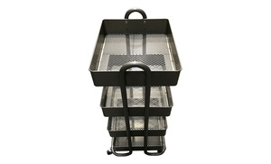 Delicieux SR Home And Office 4 Tier Rolling Cart With Metal Bins