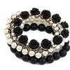Sweet Flower Multilayer Beads Stretch Women's Bracelet