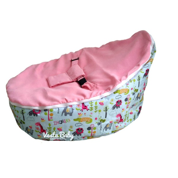 Wondrous Unfilled Jolly Jungle Baby Bean Bag Seat Snuggle Bed Pink Gmtry Best Dining Table And Chair Ideas Images Gmtryco