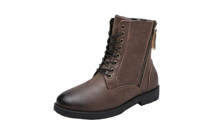 Men's Casual Lace Up Fashion Hiking Boots
