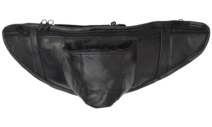AFONiE-Genuine Leather Slim Bo...