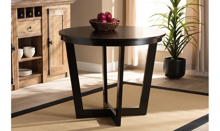Alayna 35-Inch-Wide Round Wood Dining Table