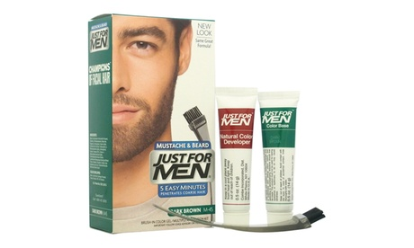 JUST FOR MEN Brush-In Color Gel Mustache & Beard M-45 Dark Brown Hair Color b63c1f6b-f6c8-499d-9fde-5c9f4c21c85c