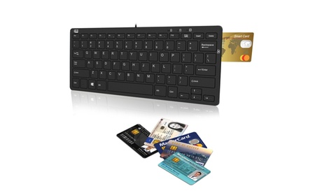 Adesso AKB-510RB SlimTouch 510R Mini Keyboard with Smart Card Reader