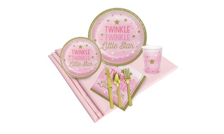 winkle Twinkle Little Star Pink 24 Guest Party Pack 0029c807-86a5-445d-b9cb-f562aaf59461