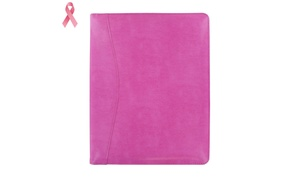 Royce Executive Writing Portfolio and Organizer in Pink Leather