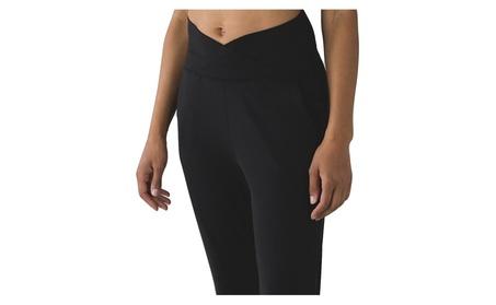 Lululemon Sunset Salutation Crop Yoga Pants Black e51c427f-971b-4a9f-b416-724c5d48b602
