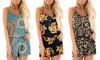 Leo Rosi Women's Print Jumpsuit. Plus Sizes Available.