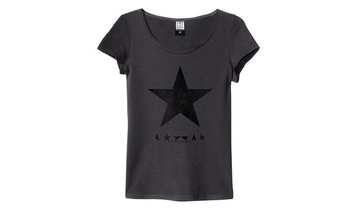 David Bowie 'Blackstar' Womens T-Shirt Charcoal Amplified Clothing
