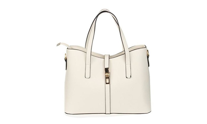 Womens Pu Leather Handbag Lady's Line Tote Bags