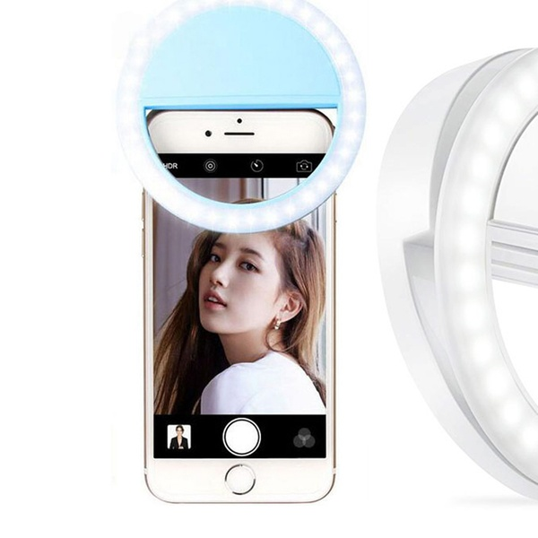 9ccdb0e75d0 Selfie Ring Light with 36 LED Bulbs Flash Lamp Clip Cell Phone for Phone,  Tablet
