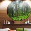 Hoh Rain Forest' Landscape Photography Circle Metal Wall Art