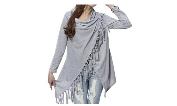 Women Long Sleeve Slash Pullover Casual Knitted Wear