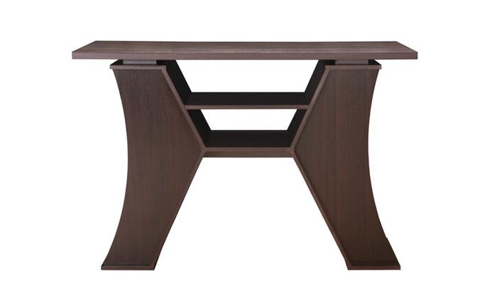 Foyer Table Jcpenney : Garza espresso modern design entryway table groupon