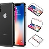 iPhone X Aluminum Magnetic Instant Snap Case With Tempered Glass Back Plate