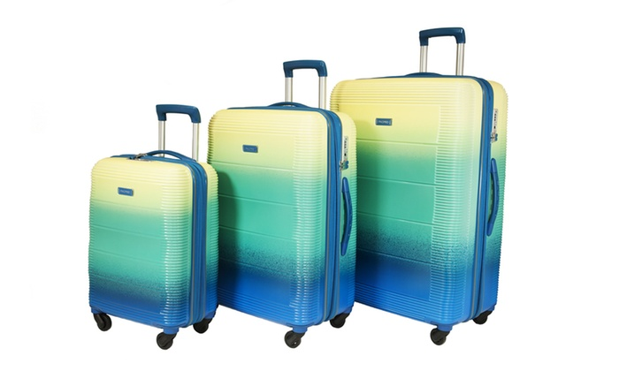 2e7eeedb3 Pacpro Luggage Sets Glossy Suitcase Sets Hardside Spinner Trolley Expandable