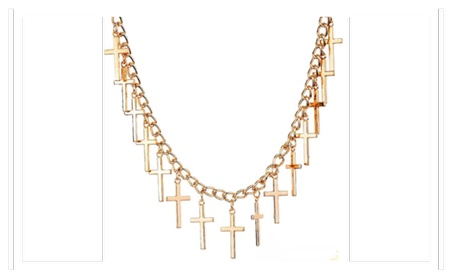 New Elegant Gold Multiple Cross Pendant Necklace For Women 4a44054f-10a6-4a68-a3ef-34816dd55059