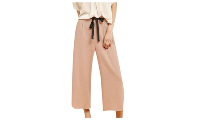 Women's Textured Sweat Wicking Capri Loose Fit Trousers
