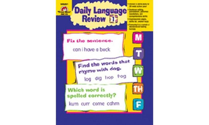 Evan-Moor Emc579 Daily Language Review Grade 1