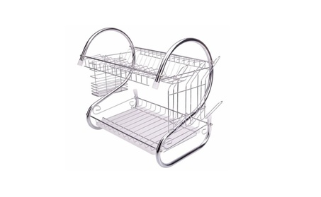 S-shaped Kitchen Dish Cup Drying Drainer Dryer Tray Cutlery Organizer 5852cc7c-fabb-4801-b4f9-e3af98b0a2d8