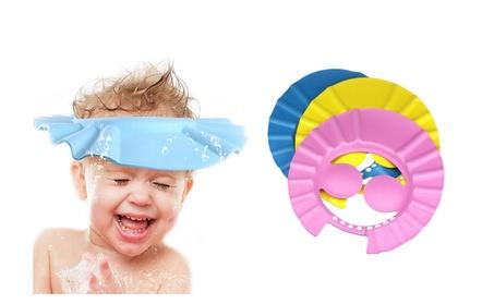 Flexible Shampoo Bath Bathing Shower Cap Hat Wash Hair Shield