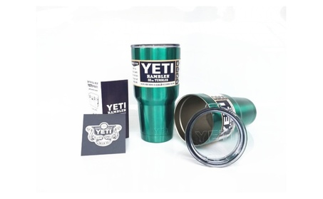Metallic Green YETI 30oz Rambler Tumbler Thermos With Steel Straw 713d00f0-395e-491c-a3de-c4413a80511b