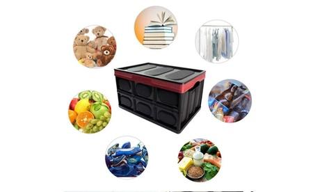30L/55LFolding Plastic Storage Containers Durable Storage Boxes w /Lids