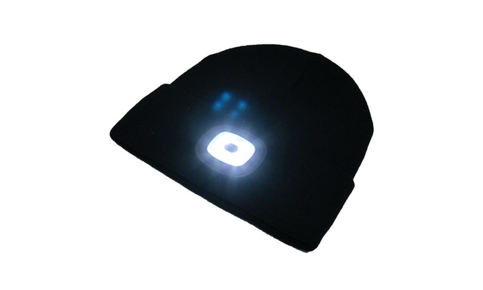 f48aa374f2e BEAMie Hat With Built-In Rechargeable LED Head Lights