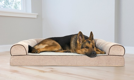 FurHaven Deluxe Orthopedic Sofa Pet and Dog Bed