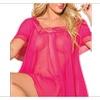Women Square Neck Short Sleeves Lingerie - TCWL869