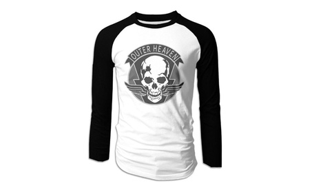 Mens Metal Gear Solid Outer Heaven Long Sleeve Raglan Baseball Tee 17c424a0-8883-4e3d-84fc-5e87e3969f49