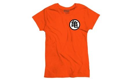 Master Roshi Turtle School Kanji King Kai Dragon Ball Z Ladies T-Shirt 80abf61f-c834-4bc9-acd4-044796c7ccaf