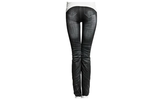 Women's High-Rise Polyester Slim Fit Flare Ankle Leggings