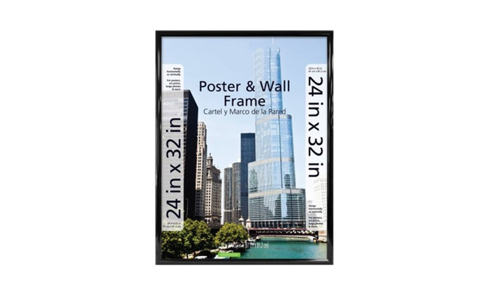 24x32 Trendsetter Poster and Picture Frame, Black | Groupon