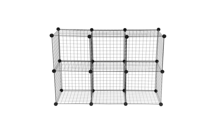 wire storage cubes free standing modular shelving units closet groupon. Black Bedroom Furniture Sets. Home Design Ideas