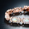 Fire Opal & 18K Rose Gold Plating Butterfly Tennis Bracelet By Peermont
